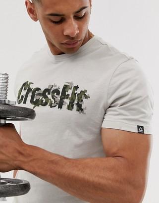 Reebok Crossfit logo t-shirt in stone
