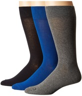 Cole Haan 3-Pair Solid Flat Knit Crew