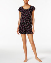 Alfani Printed Flutter-Sleeve Top and Boxer Shorts Pajama Set, Only at Macy's