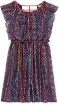 Speechless Aztec Flutter-Sleeve Chiffon Dress - Girls Plus