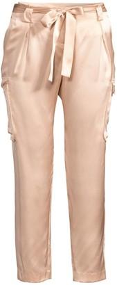 L'Agence Roxy Silk Cargo Crop Pants