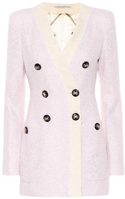 Alessandra Rich Metallic boucle-tweed jacket