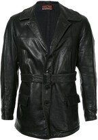 1930s Leather Car Coat