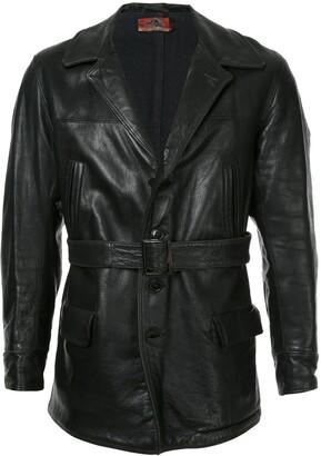 Fake Alpha Vintage 1930s Leather Car Coat
