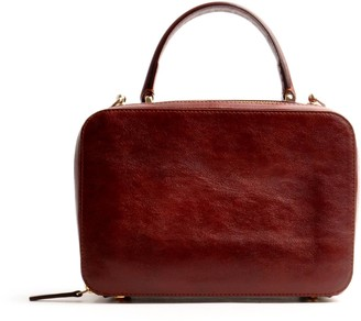 Ostwald Finest Couture Bags Virginie Top Handle In Reddish Brown