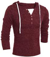 Susenstone Men's Autumn Winter Fashion Hooded Sweater Top Blouse (XL)