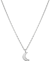 Shinola Sterling Silver Crescent Moon Charm Necklace, 18
