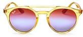 Ray-Ban Mirrored Round Sunglasses, 50mm