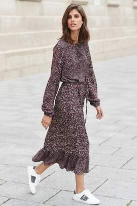 Next Womens Berry Midi Tiered Dress - Purple