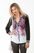 Hale Bob Fidelia Lace Tunic In Purple