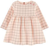 Jean Bourget Checked crepe dress