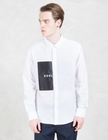 Soulland White Neatherall Button Down Shirt W. Oversize