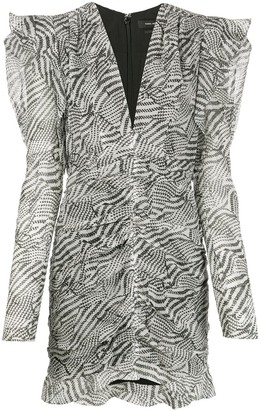 Isabel Marant Issolya graphic print dress