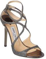 Jimmy Choo Lance Lame Glitter Fabric Sandal.