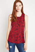 BCBGeneration Floral Print Sleeveless Top - Pink