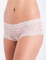 Palindrome Elemental lace and mesh boyleg briefs