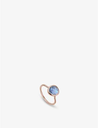 Monica Vinader Siren kyanite-gemstone 18ct rose-gold and silver ring