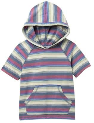 Tea Collection Short Sleeve Slim Stripe Happy Hoodie Tee (Little Boys)