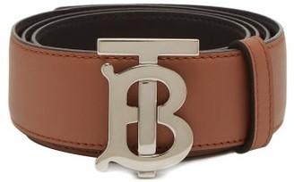 Burberry Tb-buckle Reversible Leather Belt - Tan