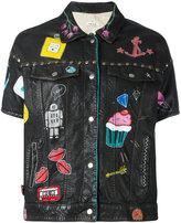 P.A.R.O.S.H. printed short sleeve jacket