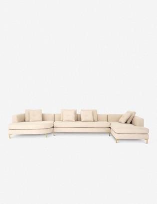 Lulu & Georgia Abena Three-Piece Right-Facing Sectional Sofa