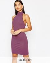 Club L Crepe High Neck Midi Dress