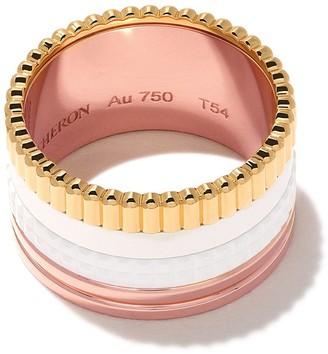 Boucheron 18kt rose, white and gold Quatre White large ring