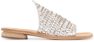 Officine Creative Droit woven flat sandals