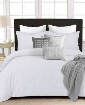 Tribeca Living 350 Thread Count Cotton Percale Oversized Queen Duvet Covet Set Bedding