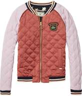 Scotch & Soda Embroidered Quilt Bomber Jacket