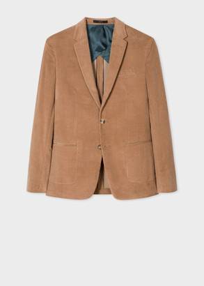 Paul Smith The Kensington - Men's Slim-Fit Camel Cotton-Cashmere Corduroy Blazer