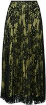 Ermanno Scervino pleated lace layered skirt - women - Silk/Cotton/Polyamide/Spandex/Elastane - 38