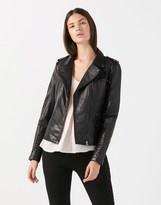 Naf Naf Leather Biker Jacket
