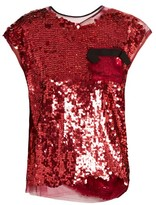 Lanvin Sequin-embellished top