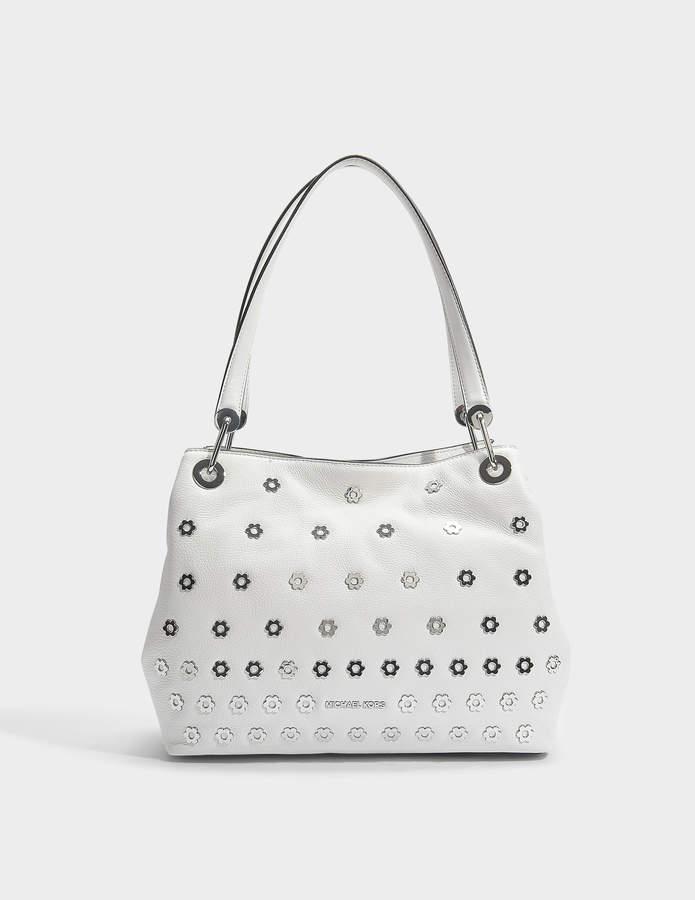 abbd12ab0f9c MICHAEL Michael Kors White Pebble Leather Handbags - ShopStyle