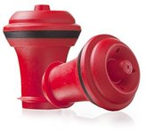 Vacu-Vin Wine Stoppers, Set of 2, Red
