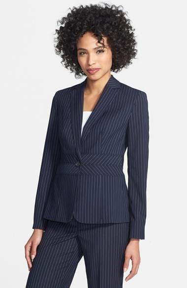 Jones New York 'Emma - Birdseye' Seamed Jacket