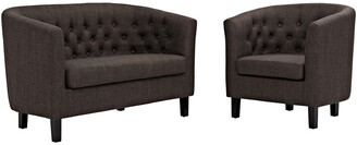 Modway Prospect 2Pc Upholstered Fabric Loveseat & Armchair Set
