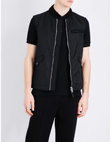 Givenchy Velcro-branded Quilted Gilet
