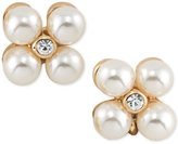 Lauren Ralph Lauren Gold-Tone Imitation Pearl and Crystal Cluster Stud Earrings