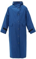 Kassl Editions - Hooded Taffeta Trench Coat - Womens - Blue
