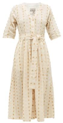 Ace&Jig Leelee Fil-coupe Gingham Cotton-blend Shirt Dress - Beige Multi