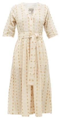 Ace&Jig Leelee Fil-coupe Gingham Cotton-blend Shirt Dress - Womens - Beige Multi