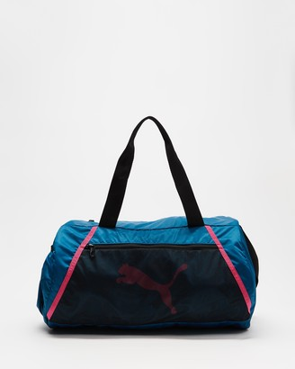 Puma Women's Blue Duffle Bags - Essentials Barrel Bag - Size One Size at The Iconic
