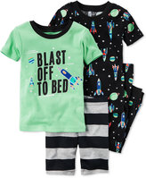 Carter's 4-Pc. Blast Off To Bed Pajama Set, Baby Boys (0-24 months)
