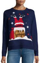 Context Chimney Santa Knit Ugly Christmas Sweater
