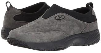 Propet Wash Wear Slip-On II (Pewter Suede) Women's Shoes