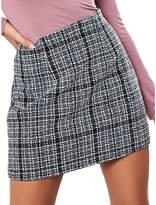 Missguided Boucle Check Mini Skirt