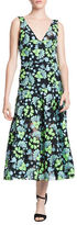 Tracy Reese Frock A-Line Floral Midi Dress