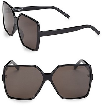 Saint Laurent 63MM New Wave Betty Square Sunglasses